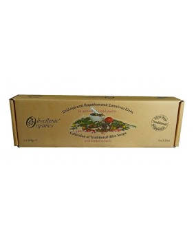 Collection of Traditional Olive Soaps with Herbal extracts 3x100gr