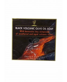 Black Volcanic Olive Oil Soap 100gr