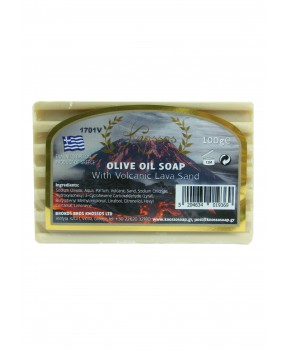 Olive Oil Soap with Volcanic Lava Sand 100gr