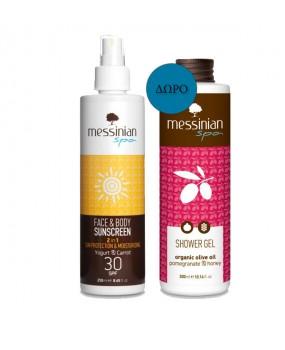 Face & Body Sunscreen Spf30 250ml & Shower Gel 300ml Free