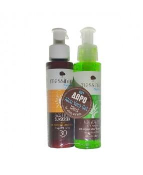 Face & Body Sunscreen Spf30 100ml & Aloe Vera Gel 100ml Free