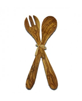 Wooden Spoon and Fork Set 30cm