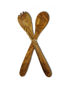 Wooden Spoon and Fork Set 35cm
